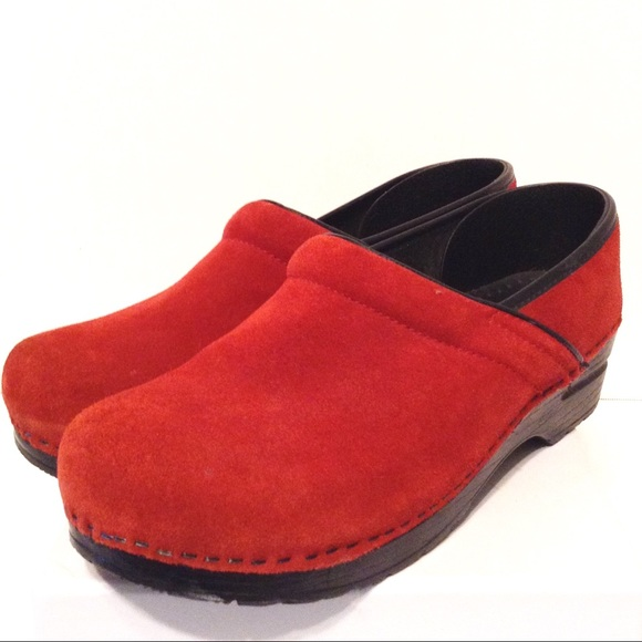 Dansko Shoes | Clogs Red Suede